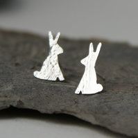 Tiny bunny stud earrings
