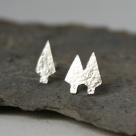 Tiny tree stud earrings