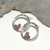 Little heart stud earrings