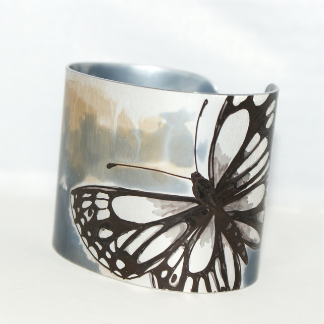 Marbled white butterfly cuff