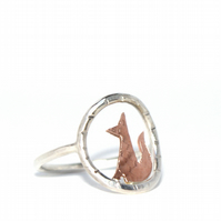 Tiny fox ring
