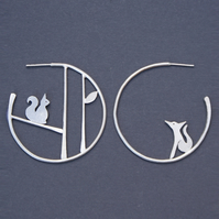 Edge of the woods statement earrings - squirrel