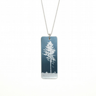 Tall tree pendant - rectangle