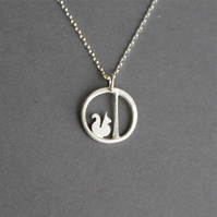 Tiny Edge of the woods squirrel necklace
