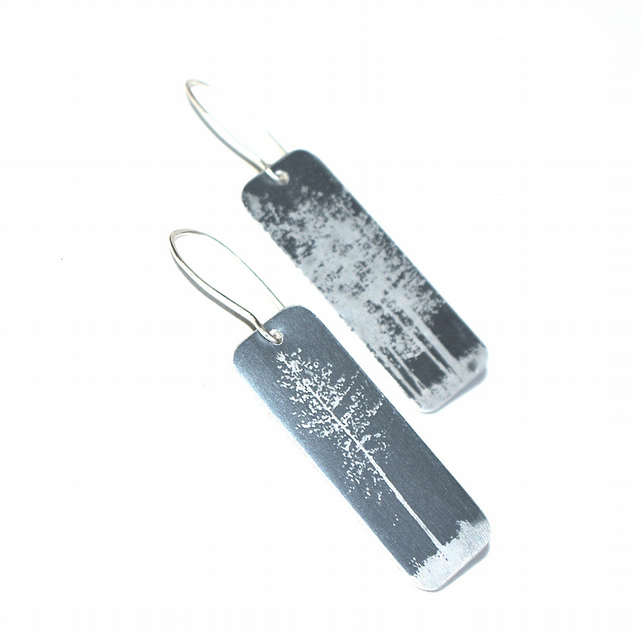 Tall tree earrings