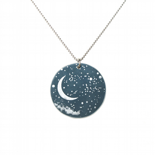 Night sky pendant - small circle