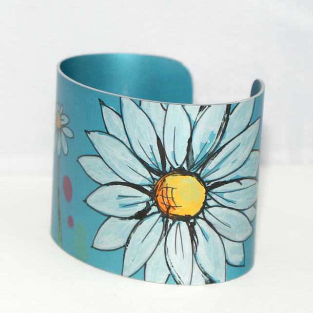 Painted daisy cuff