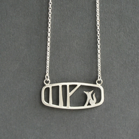 Edge of the woods landscape fox necklace