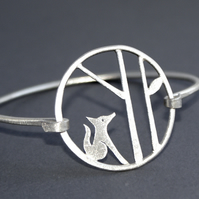 Edge of the woods fox bangle