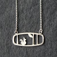Edge of the woods landscape squirrel necklace