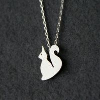 Edge of the woods tiny squirrel necklace