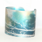 Tall trees cuff - blue and bronze