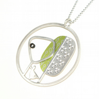 Two trees necklace - sterling silver and aluminium