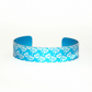 Medium childrens aluminium seed head print bracelet blue