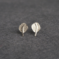 Silver dotty tree stud earrings