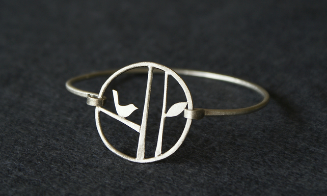 Edge of the woods bird bangle