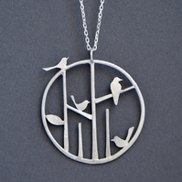 Edge of the woods birdy necklace