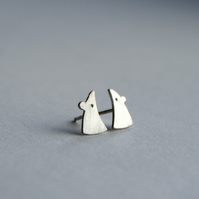 Tiny mouse silver studs