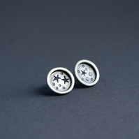 SALE Silver star mis-matched studs