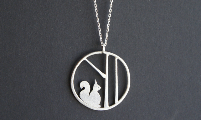 Edge of the woods squirrel necklace