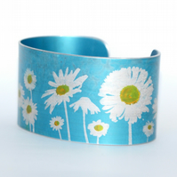 Oops a daisy cuff narrow blue