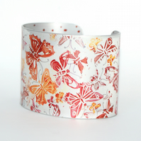 Flutter cuff - red & orange