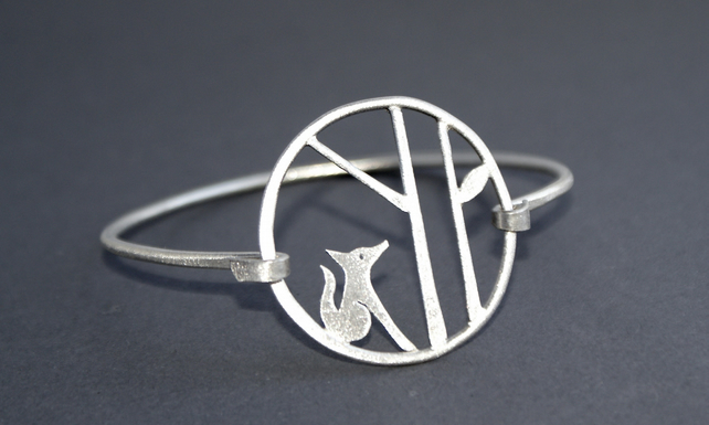 CUSTOM LISTING - landscape fox bangle