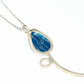 Silver and blue spring buds pendant