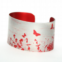 Summer hedgerow cuff narrow red