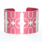 Geometric bird print aluminium cuff red