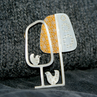 Chickenish brooch