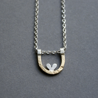 Personalised tiny nest necklace