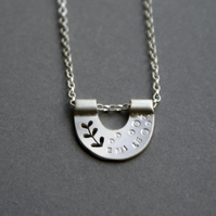 Personalised silver nest necklace