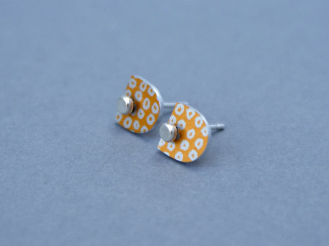 Gold and silver dotty studs