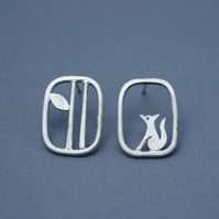 Edge of the woods mismatched fox studs