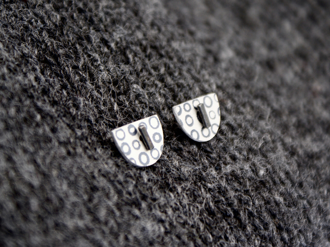 Black dotty studs