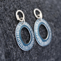 Coastal blue drop earrings