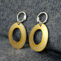 Coastal yellow drop earrings