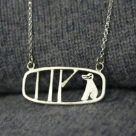 Edge of the woods landscape badger necklace
