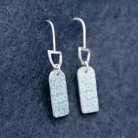 Mint and silver dangle earrings