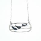 Landscape swallows necklace