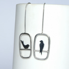 Mismatched swallow drop earrings