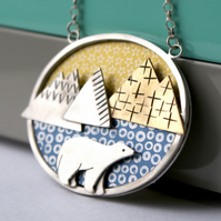 Mountain bear necklace