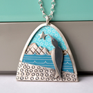 Ice penguin necklace