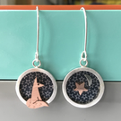 Starry fox earrings