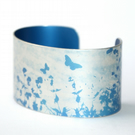 Summer hedgerow cuff narrow blue