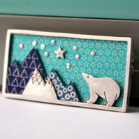 'Climb Every Mountain' Bear Brooch