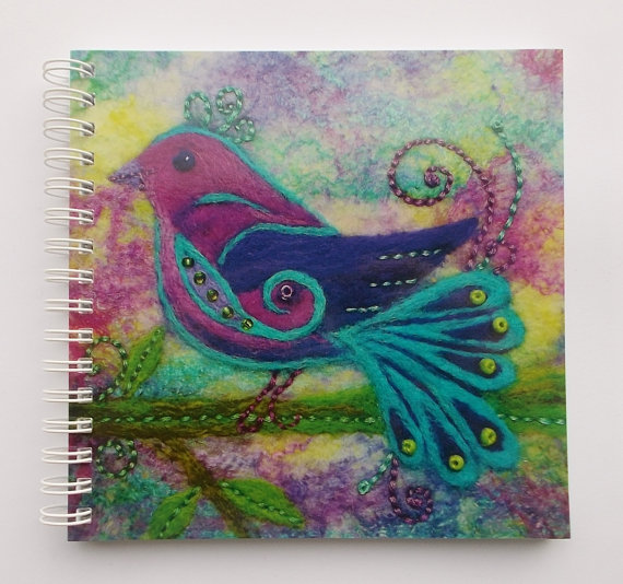 Notebook with Printed Cover of a Colourful Bird