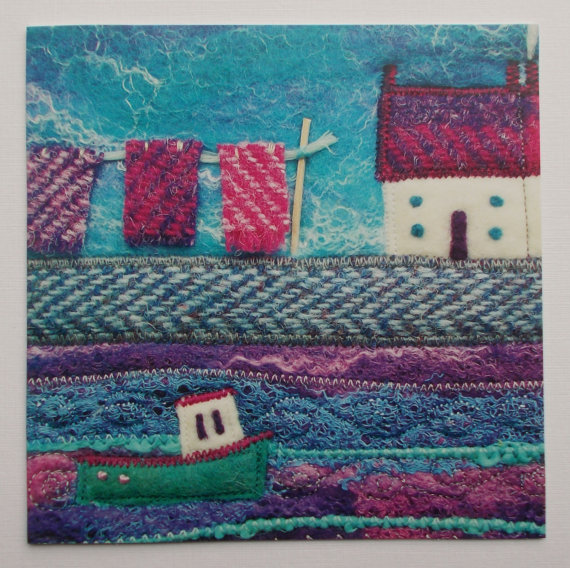Washing Day Printed Greetings Card