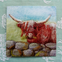 Highland Cow Printed Greetings Card